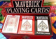 MAVERICK POKER SIZE PLAYING CARDS 12-DECKS (6 RED, 6 BLUE)