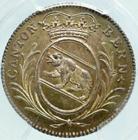 1808 SWITZERLAND Canton of BERN Old Antique Swiss Silver 5 Batz PCGS Coin i86444