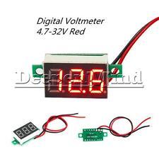 DC 4.7-32V Mini Red LED Panel Voltage Meter 3-Digital Adjustment Voltmeter