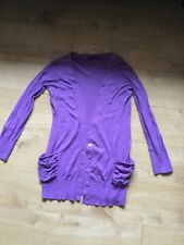 George size 14 long purple  cardigan great condition