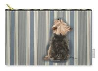 "Tote - Yorkie Looking Up Large Carry All Pouch 8.5"" x 12"" FREE Personalization!"