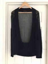 All Saints amazing, super soft angora & mesh navy cardigan Size 8 ( 8/10)