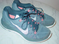 2014 Nike Lunarglide+ 5 Blue/Gray/Orange Running Shoes! Size 8 $120.00