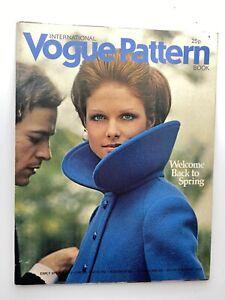 VOGUE MAGAZINE 1972 Spring pattern book FREE GIFT WRAP Fast Dispatch