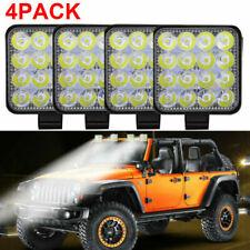 4Pack 48W 16LED Work Light Flood Beam Bar Car SUV ATV Off-Road Driving Fog Lamps