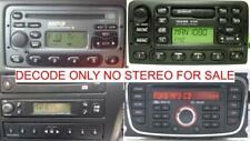 FORD SONY 6000 4500 CD DAB 6 DISC RADIO CODE DECODE SERVICE,MONDEO,FIESTA,KA