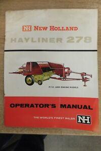 new holland hayliner 278 baler operators hand book vintage antique