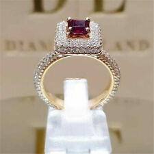 Cut Ruby Women Wedding Ring Sz 6 New listing Gorgeous 18k Gold Filled Jewelry Square