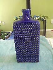 """Large 16"""" Cobalt Blue Hobnail Vase * NEW"""