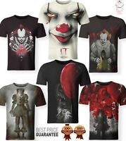 New IT Horror Scary Movie Clown Red Balon T-Shirt 3D Print Men Women S-7XL