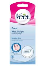 Veet Face Wax Strips Sensitive Skin Pack of 20 Hair Removal Top Quality Ideal PP