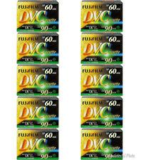 10 Tapes Fujifilm DVM-60 60 Minute Mini DV Recording Cassette Tape