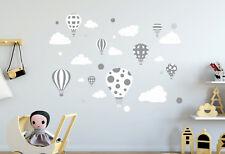 Wandaufkleber Kinder Baby Aufkleber Ballons Ballon Wolken Wolke Babyzimmer Kids
