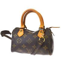 Auth LOUIS VUITTON Mini Speedy 2Way Hand Bag Monogram Leather M41534?02BQ790