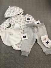 NWT janie and Jack boy SPRING dog khaki pants socks hat 4-piece 12 18 24 4 4T