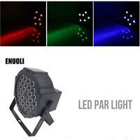 36 LEDs RGB Stage Light Flat Par Lamp Club DJ Party Disco Sound DMX512 Control