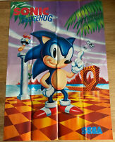 Sonic the Hedgehog Poster Sega Mega Drive Glossy Unused Double-Sided 1991