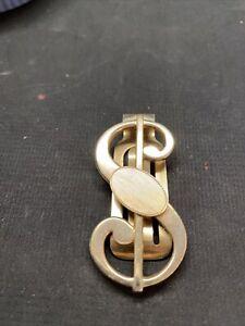 Vintage Brass Anson Dollar Sign Money Clip Unisex Birthday Gift Men Women