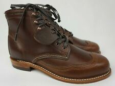 Wolverine W05342 Addison Original 1000 Mile Brown Wingtip Boots Men's Size 7 D