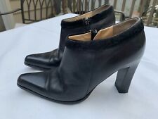 TJ Collection Euro Size 36 Black Boot Fur Lined Zipper Made Italian Made
