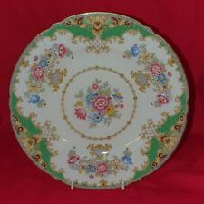 Vintage Shelley Sheraton Green Plate 13290 23.5cm Diameter  w