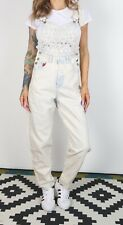 Denim Dungarees XS UK 8 Fitted, 6 XXS Oversized Wide Tapered Leg (6I4A)