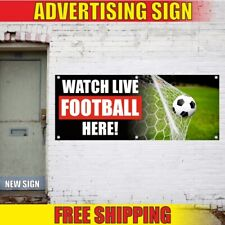 Live Football Advertising Banner Vinyl Sign Flag WATCH HERE soccer beer party