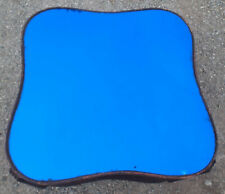 """Vintage Art Deco 25 1/2"""" Blue Mirror ONLY For Coffee Table"""