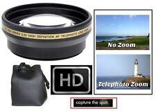 Hi-Def Telephoto 2.2x Lens For Canon Vixia HF R60 R62 R70 R72 R600 R700