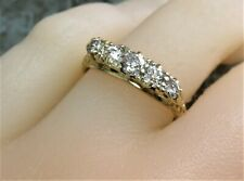 18ct Gold & 5 Stone Diamond Ring. N.   xcood.