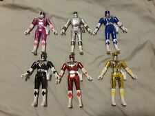 Mighty Morphin Power Rangers MMPR Movie Figures Set of 6 Blue Red White Black ++