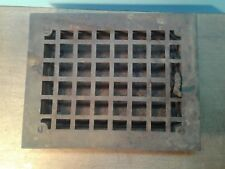 OLD VTG CAST IRON WALL FLOOR HEAT VENTILATION LOUVER GRATE