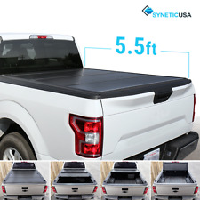 Aluminum Hard Tri-Fold Tonneau Cover For 2004-2018 Ford F-150 5.5ft Truck Bed