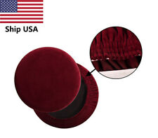 Round Bar Stool Covers Suede Stool Cushion Slipcover Elastic Bar Chair Covers