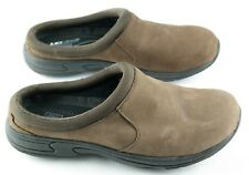 AeroVox Uc Albany Mule Clogs Womens Size 8 Brown Nubuck Ortholite Slide Shoes