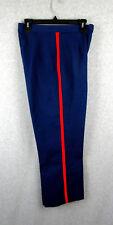 Uniform Dress Pants USMC Blue Blood Red Stripe Marines Womens Trousers 28 x 26