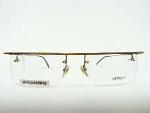 STING Rahmenlose Balkenbrille Metallfassung Bohrbrille gleitsichttauglich Gr. L