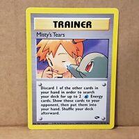 Misty's Tears 118/132 Gym Challenge Pokemon Card