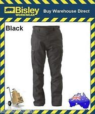 Bisley Workwear 8 Pocket Cargo Cotton Drill Work Pant BLACK BPC6007
