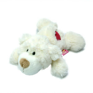 Nici Love Heart Bear Plush Soft Stuffed Toy White Washed and Clean 21cm 2014