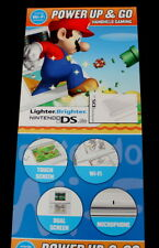 Vtg Super Mario Brothers Nintendo DS Hand Held Gaming Promo Poster Power Up & Go