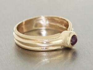 Rubinring klassischer Goldring 585 mit Rubin Solitär Ring Gold Damenring