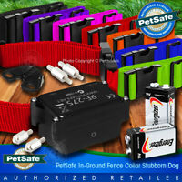 """PetSafe Stubborn Dog Fence Collar PRF-275 w/ 1"""" Strap MADE-IN-USA and Batteries"""