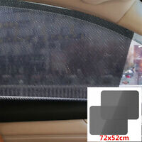 2x Auto Fenster Sonnenschutz Tönungsfolie Statisch UV Blende 72×52cm Universal