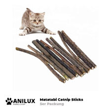 5x Katzenminze Catnip Kauen Spielholz Spielzeug Katzen Matatabi Sticks Holz Stab