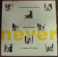 """BRAT PACK I'm Never Gonna Give You Up 12"""" OOP early-90's house"""