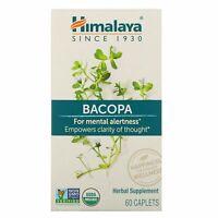 Himalaya Bacopa 60 Caplets Dairy-Free, Gluten-Free, GMP Quality Assured,
