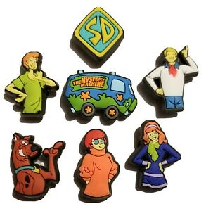 Scooby Doo, Mystery Machine & The Gang! 7PC Shoe Charm Set! For Crocs, Clogs,