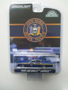 GREENLIGHT HOT PURSUIT NEW YORK STATE  POLICE *1990 CHEVROLET CAPRICE* NEW!