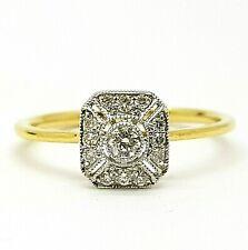 Art Deco Design 18ct Gold 17pt Diamond Ring Hallmarked *BRAND NEW* Size UK M